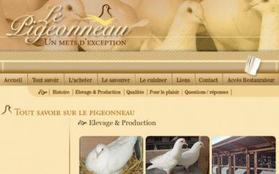Refonte du site internet www.pigeonneau.fr